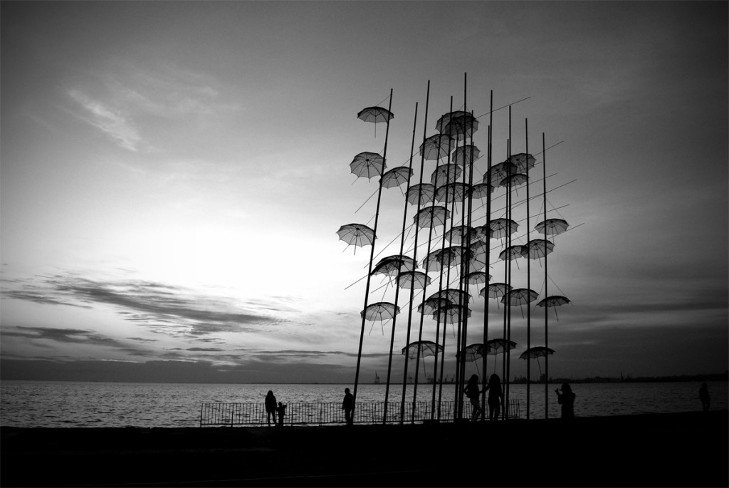 Thessaloniki's Umbrellas Sculpture