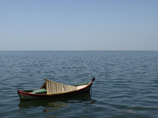 A boat in the Sea Thessaloniki, Greece