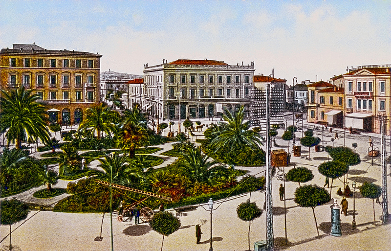 Hotels  Bagion and Megas Alexandros as they were in the past