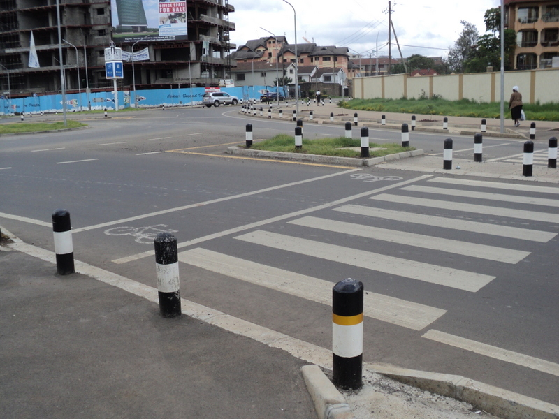 The junctions are not safe for bicylists in Nairobi, Kenya