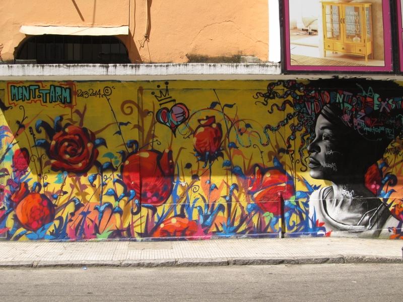 Street Art mural in Botafogo, Brazil
