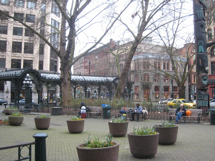 Pioneer Square Glass Pergola, Seattle, Washington