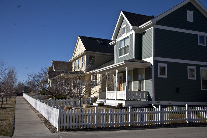 Housing styles in Stapleton, Denver, Colorado