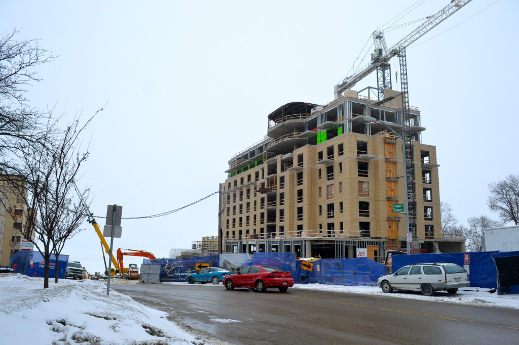 The current construction on the Edgewater Hotel, Madison, Wisconsin
