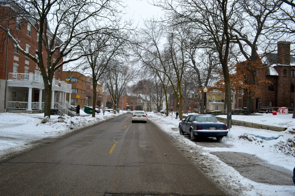 A view down Langdon Street, Madison, Wisconsin