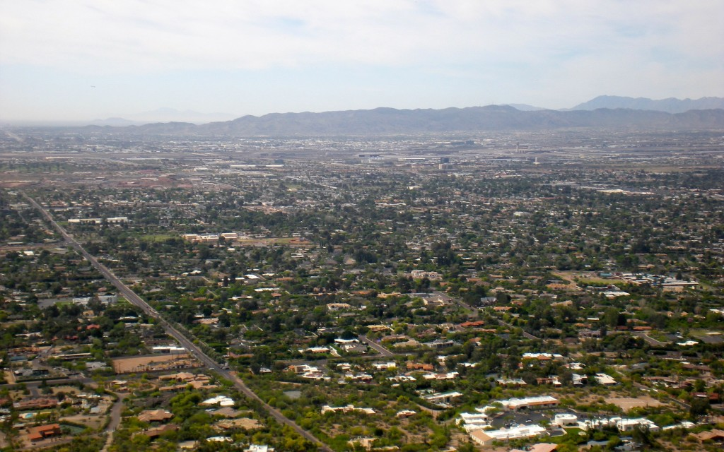 Southwest View of Phoenix from Camelback Mountain, Phoenix, Arizona