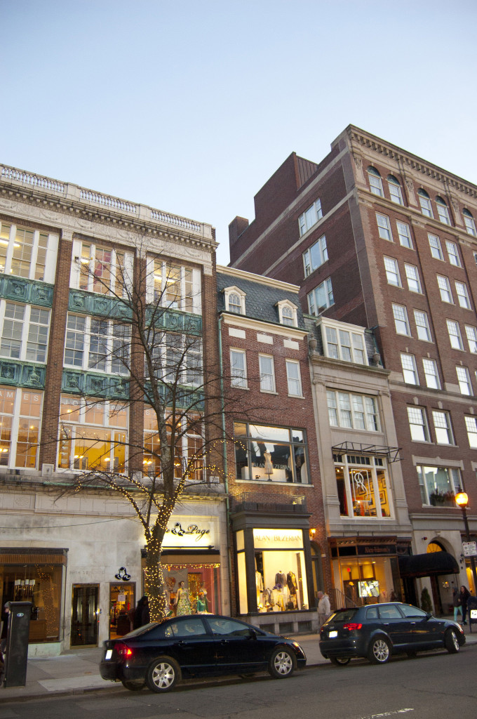 Stores in Newbury Street, Boston
