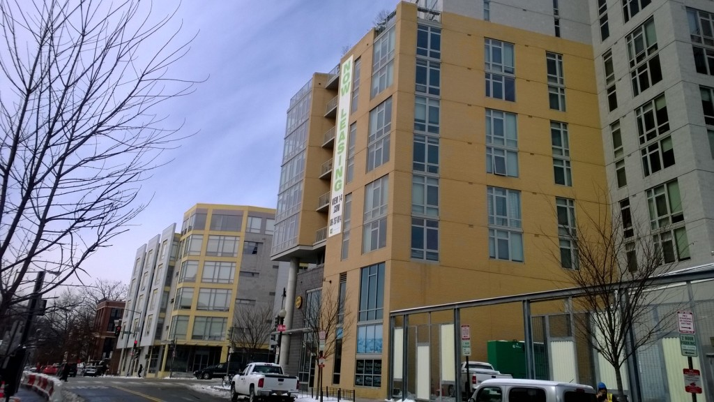 Brand new apartment buildings opening on Florida Ave NW in Washington, DC.