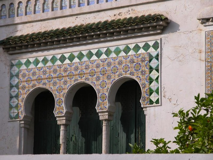 An Arabo-Moorish architecture in Algiers, Algeria