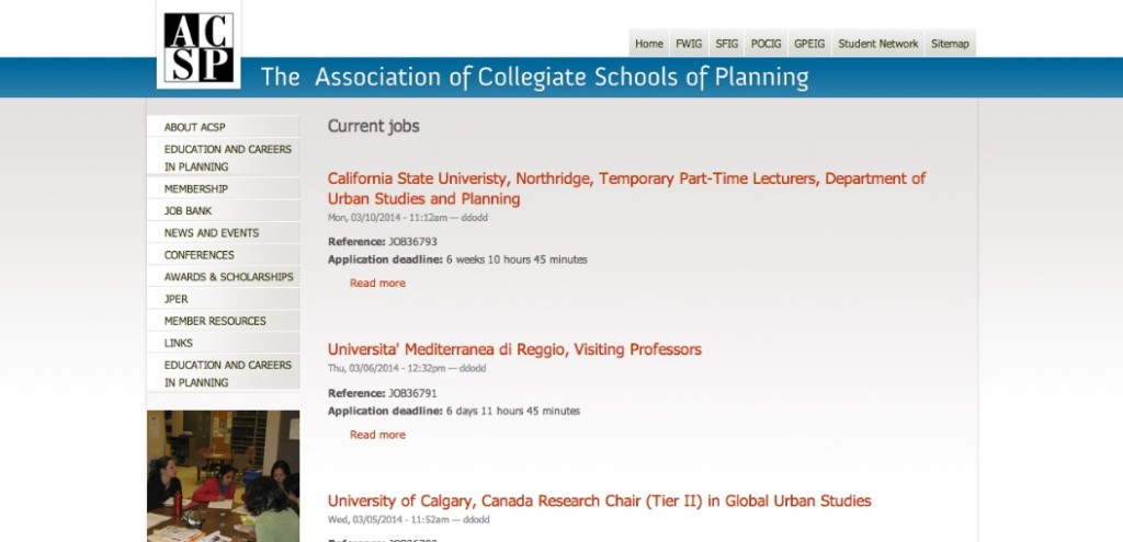 association of collegiate schools of planning