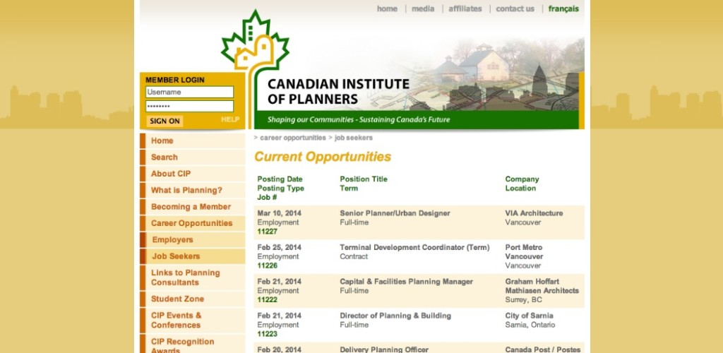 canadian institute of planners