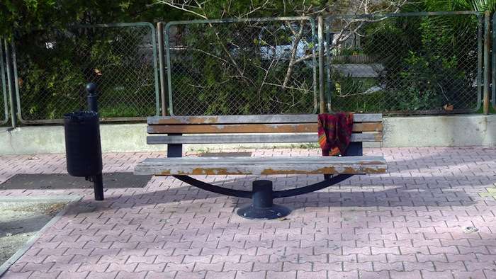 A bench in Port-Saint-Louis-du-Rhône, France