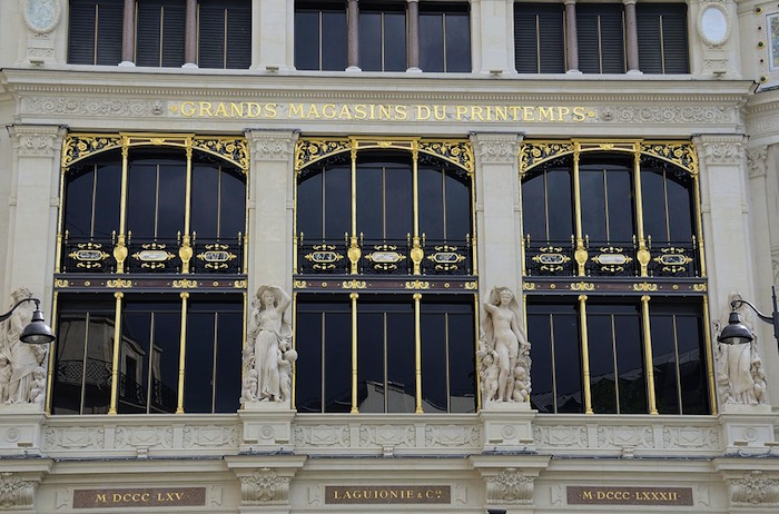 The well-known department store Printemps in Paris, France