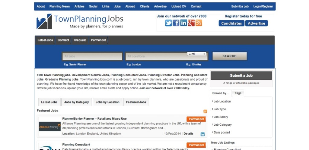 town planning jobs