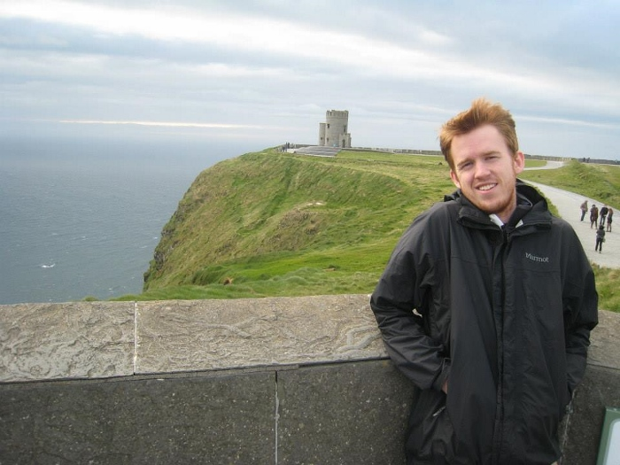 Colin at the Cliffs of Moher, Irelad