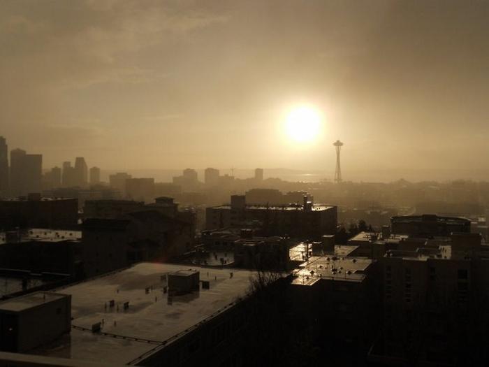 Mist in Seattle, WA