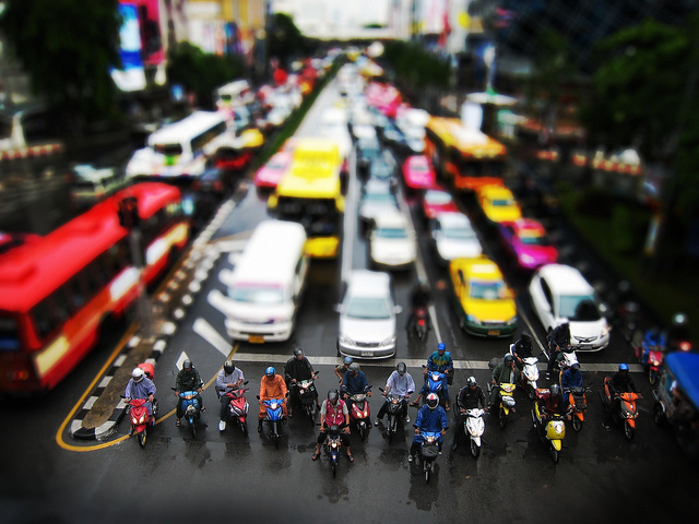 Traffic problems in big cities