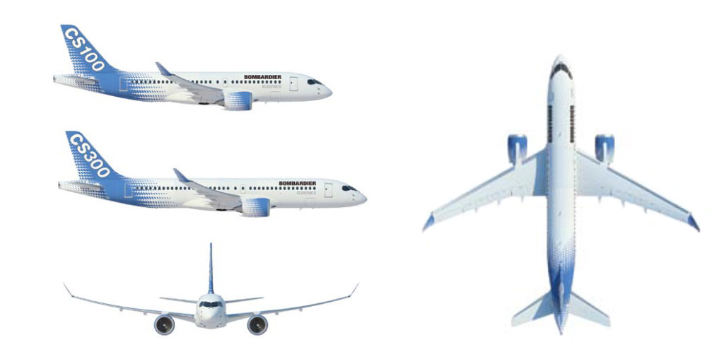 CS100 Porter Airlines jets proposed to be used in Toronto, Canada