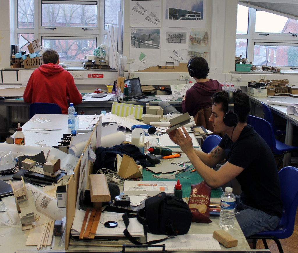 Architectural education in UK, studio time