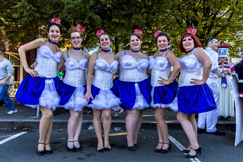 "The ""Flufferettes,"" inspired by the singer's of the original Fluff-themed radio show. Photo by Leonardo March"