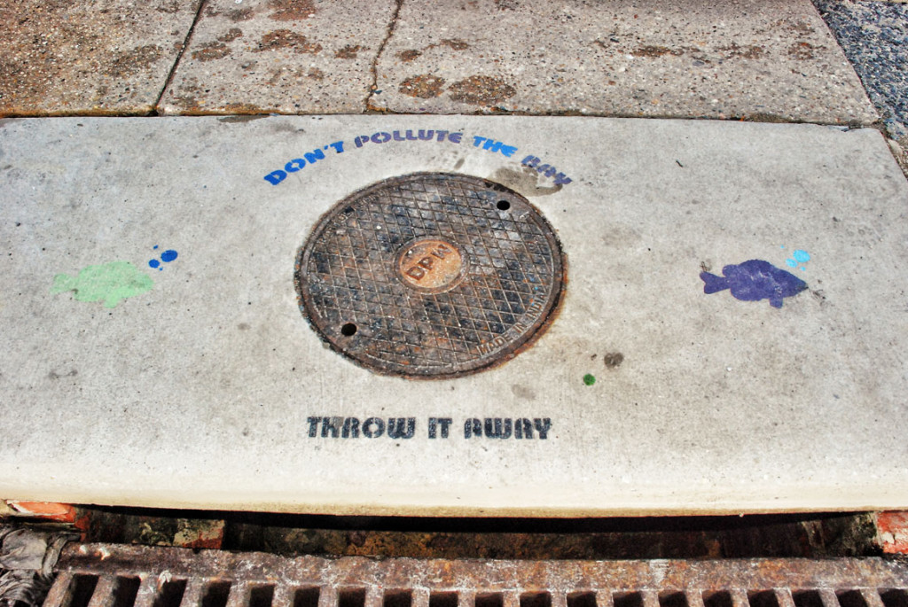 Don't pollute the Bay - Baltimore, Maryland sewer