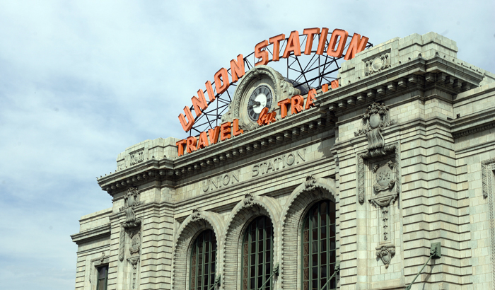Existing exterior façade of Denver Union Station in Denver, Colorado