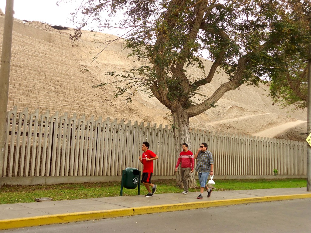 An archaeological site in the city of Lima, Peru