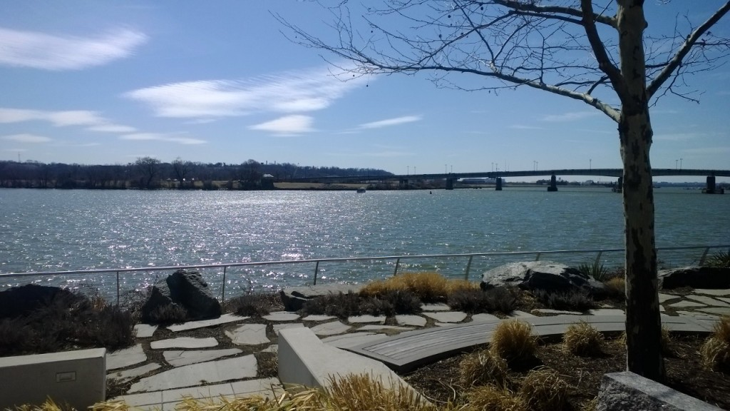 View of the Anacostia River from Yards Park, Washington DC