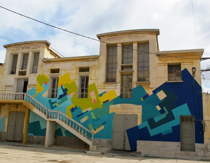 The mural of La Fabrique Culturelle in Casablanca, Morocco