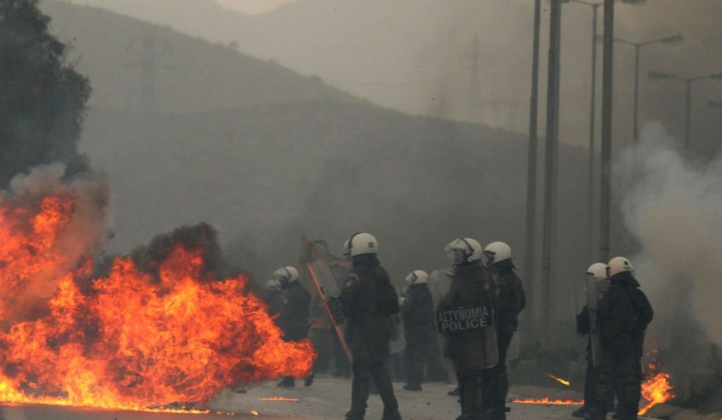 •Keratea Incidents; blockades during the protest against the landfill construction at Keratea, East Attica, Athens, Greece.