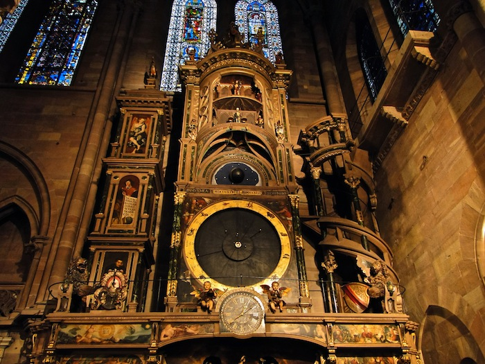 The astronomical clock in the cathedral of Strasbourg, France