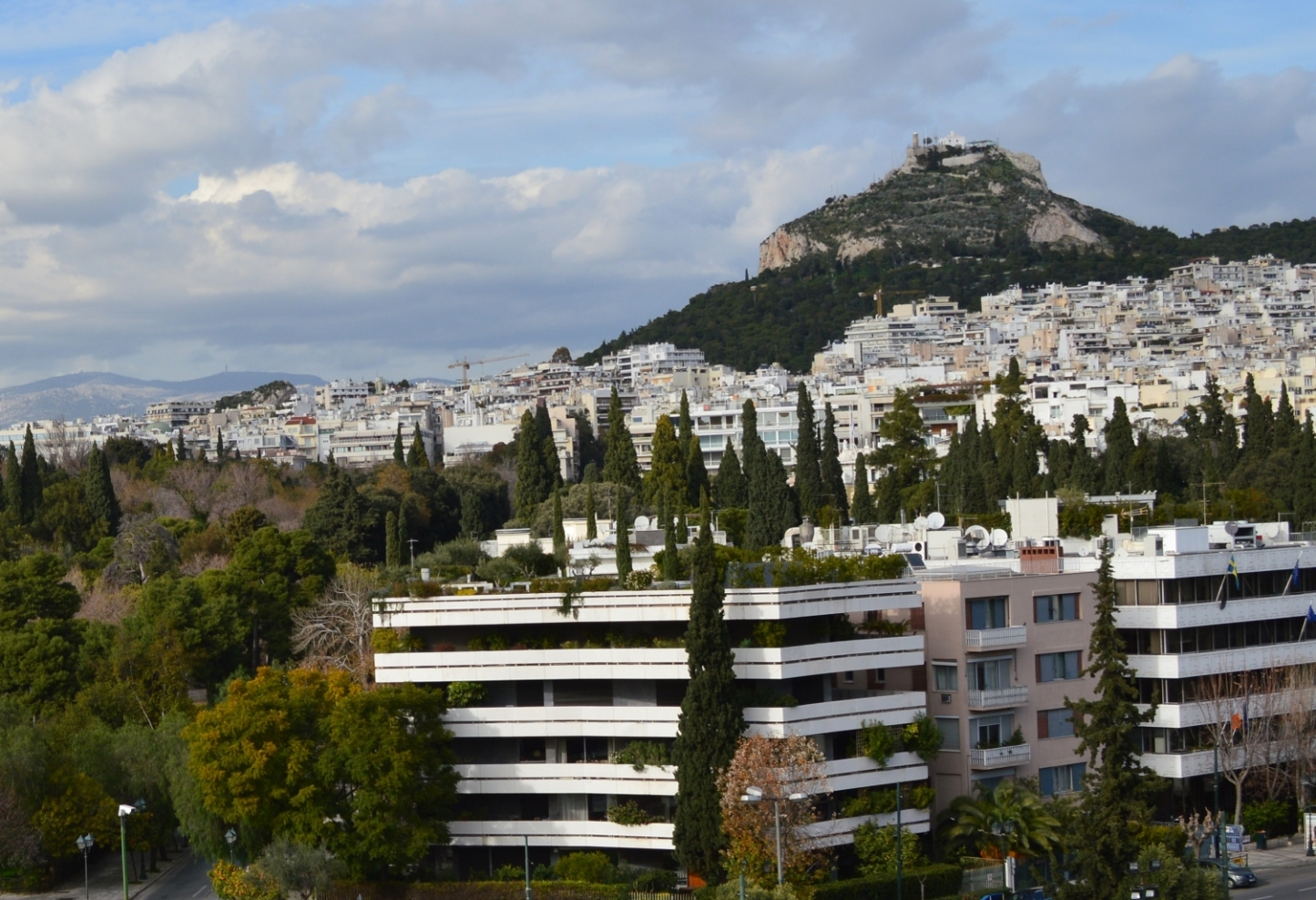 A famous roof garden in Athens, Greece: Green Terrace