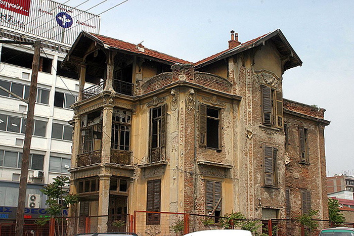 The listed bulding before restoration