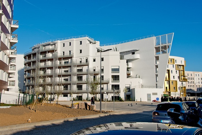 Construction in the Fort d'Issy eco-district in Issy-les-Moulineaux, France