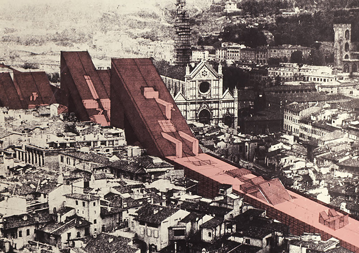 'La citta lineare', 'The linear city', project by Zziggurat (Florence, Italy)