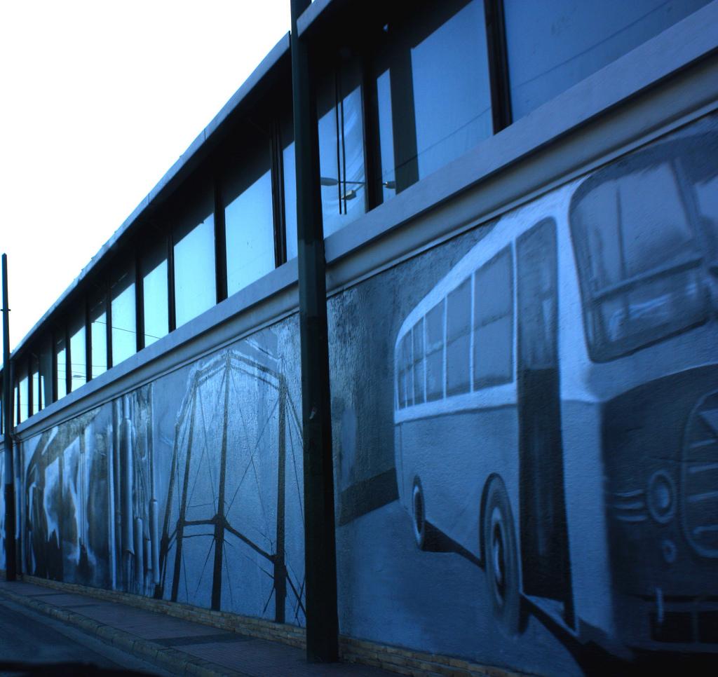Buses Graffiti in Gkazi, Greece