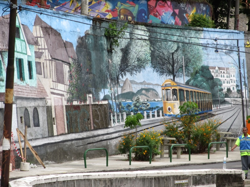 The Yellow Tram, Santa Teresa, Rio de Janeiro, Brazil