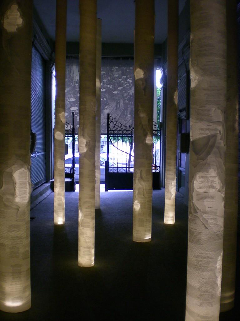 Kavafis Installation by Parallaxi, Thessaloniki, Greece