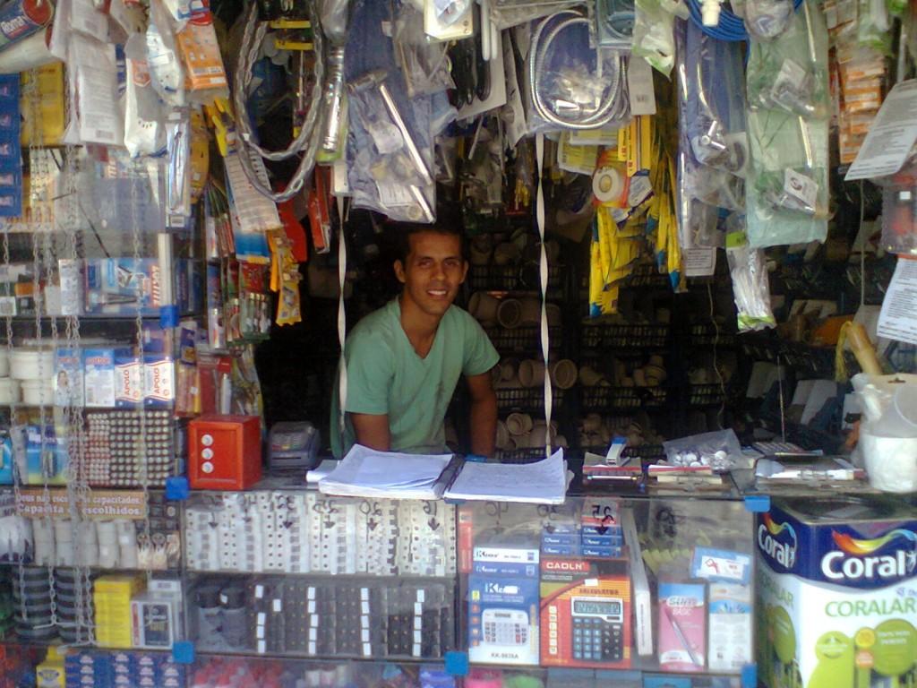 Fabrizio de Oliveira who owns a building materials store in the favela, Rio de Janeiro, Brazil
