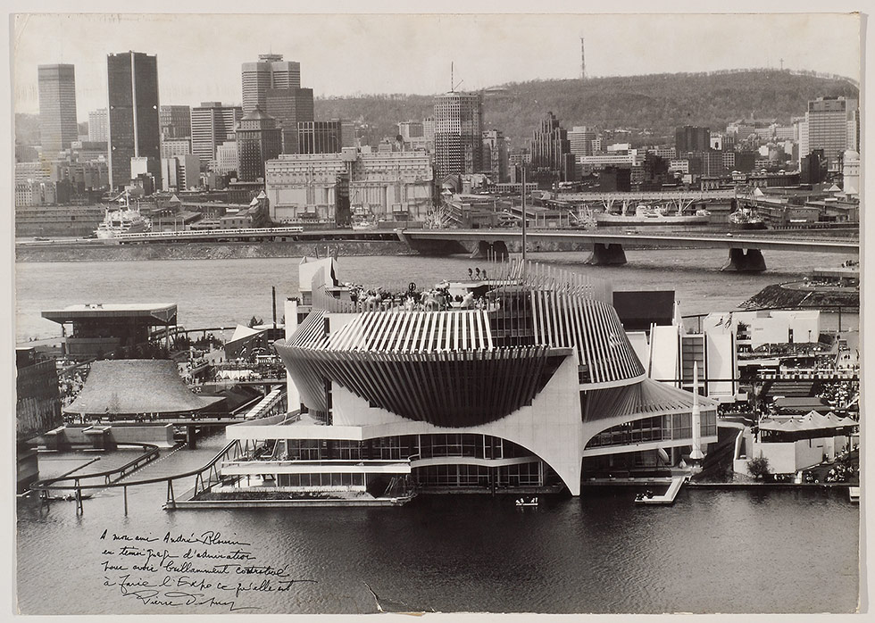 French Pavilion Design, Montreal, Andre Blouin, Montreal, Quebec, Canada