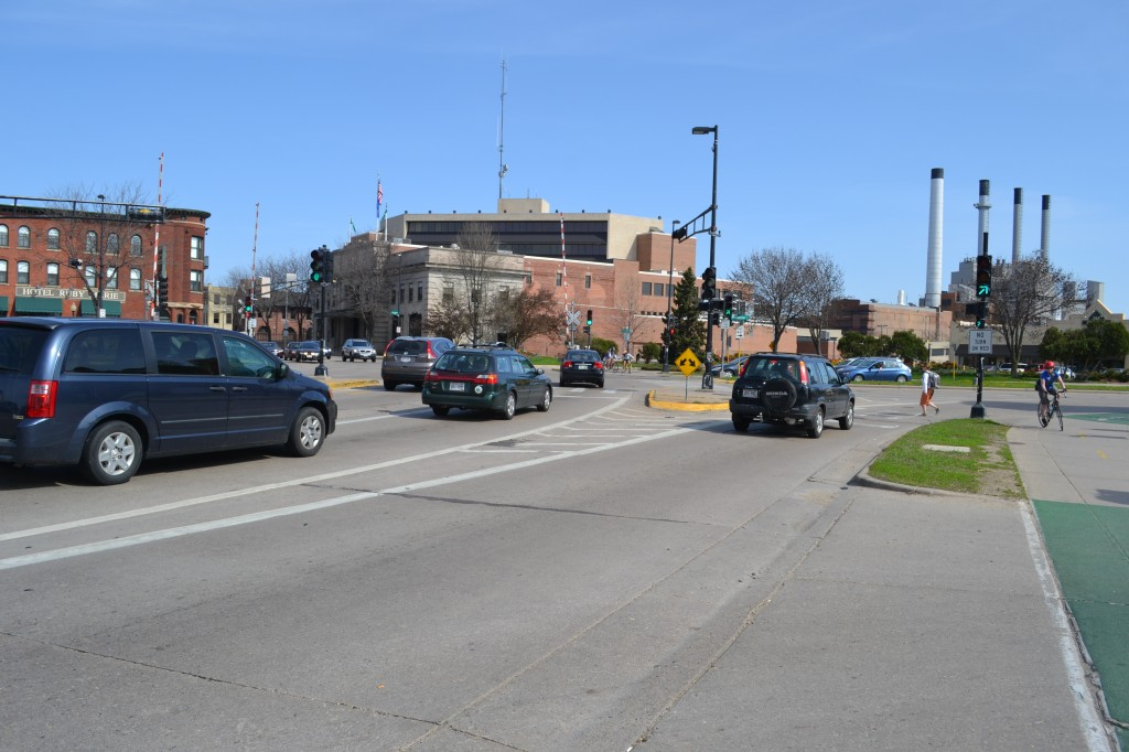 The John Nolen Dr. and Blair St. Intersection, Madison, Wisconsin