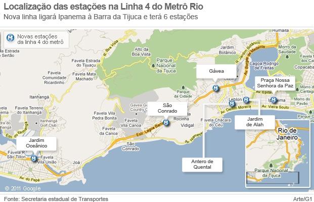 Line 4 Metro Extension Rio de Janeiro, Brazil
