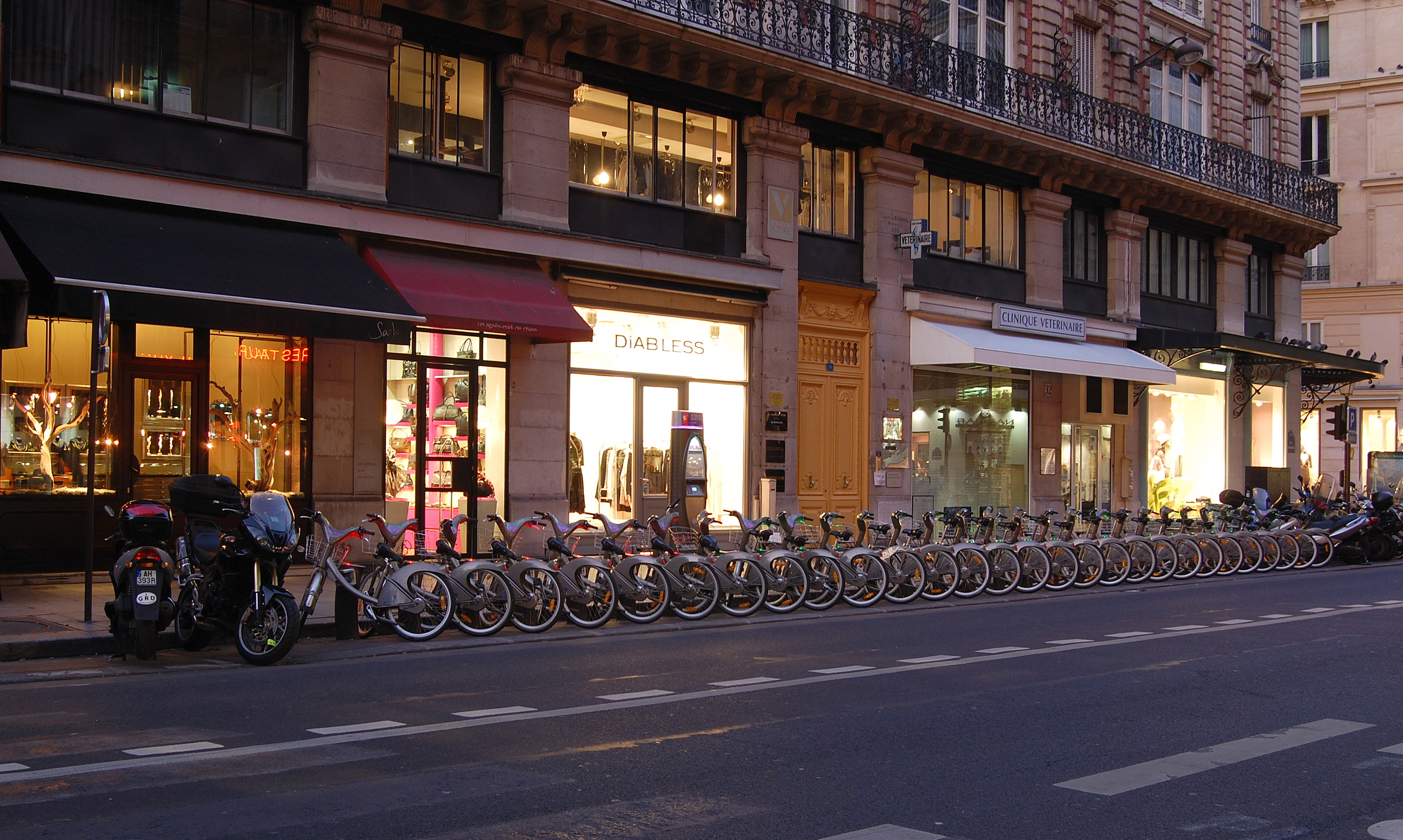Velib Station in France