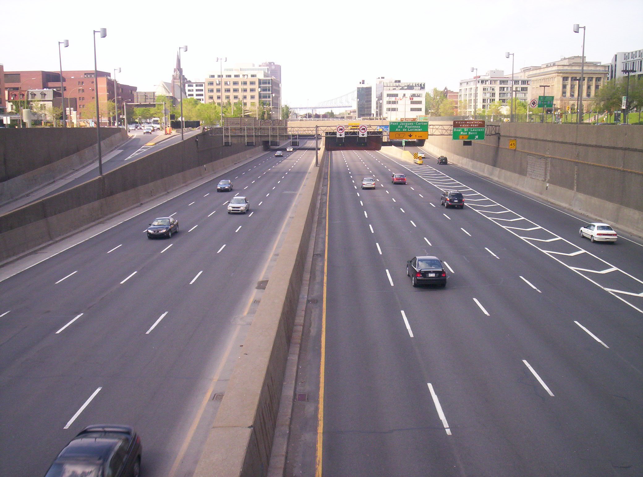 Ville-Marie Highway, Montreal, Quebec, Canada