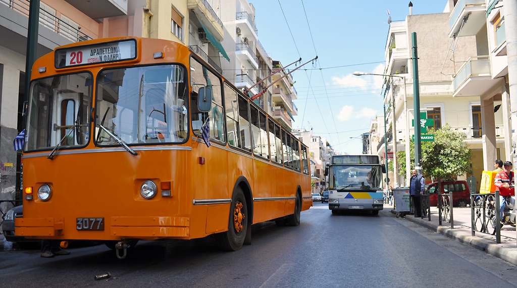Buses in Athens, Greece