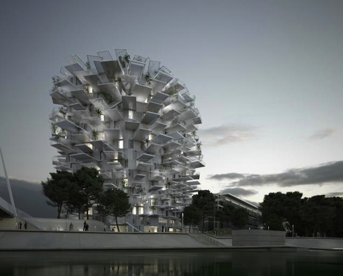 A rendering of the proposed Arbre Blanc to be located in Montpellier, France