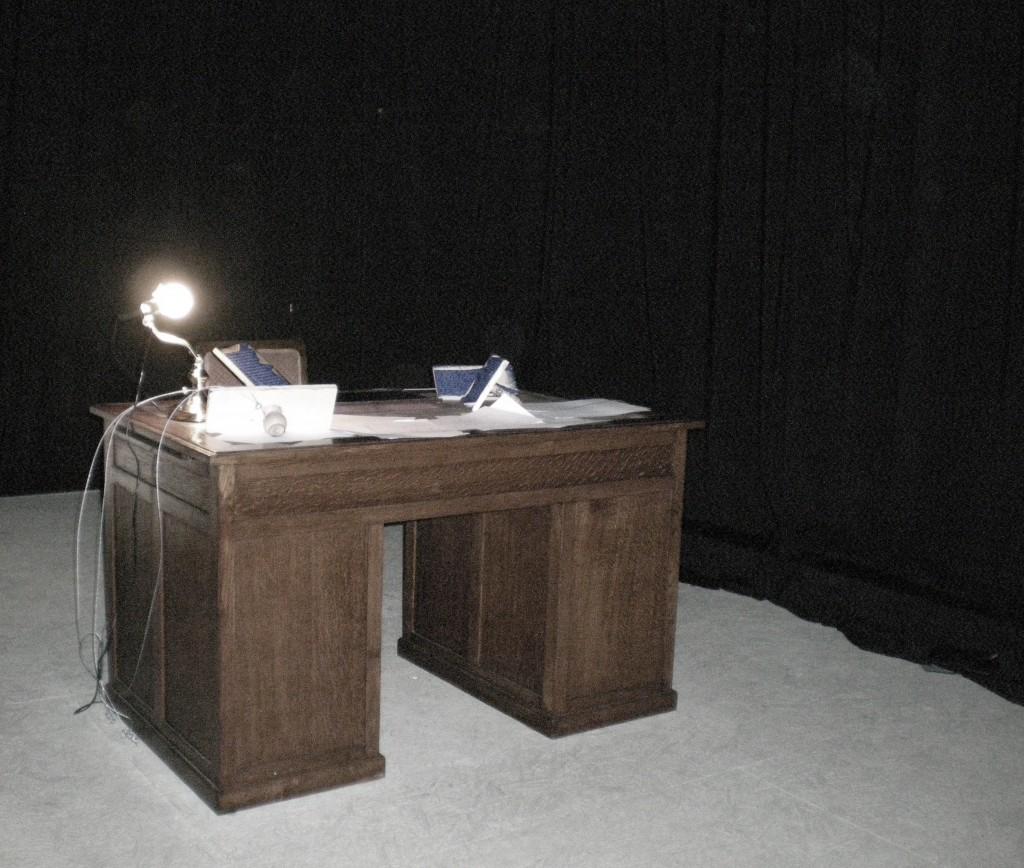 Installation of Kavafis' desk, Thessaloniki, Greece