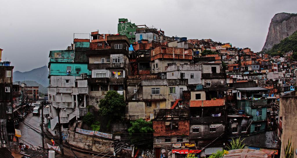 A favela outside Rio de Janiero, Brazil