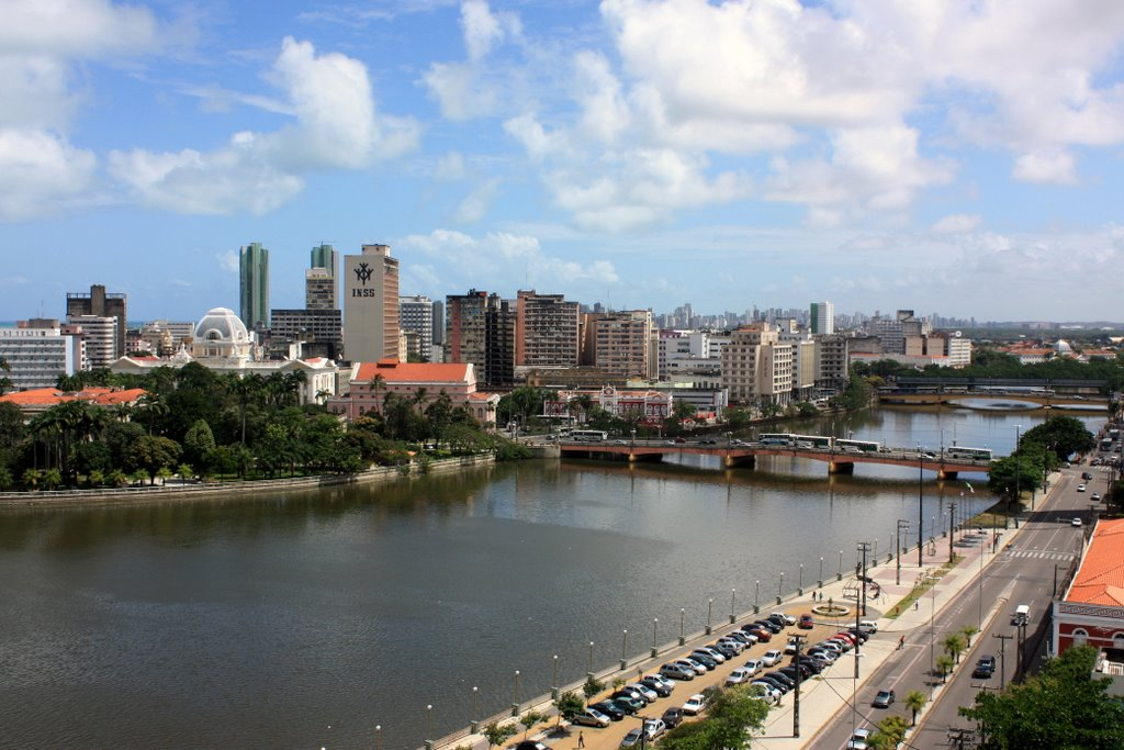 The city of Recife Brazil was founded on river tributaries and has many bridges that connect different parts of the city.