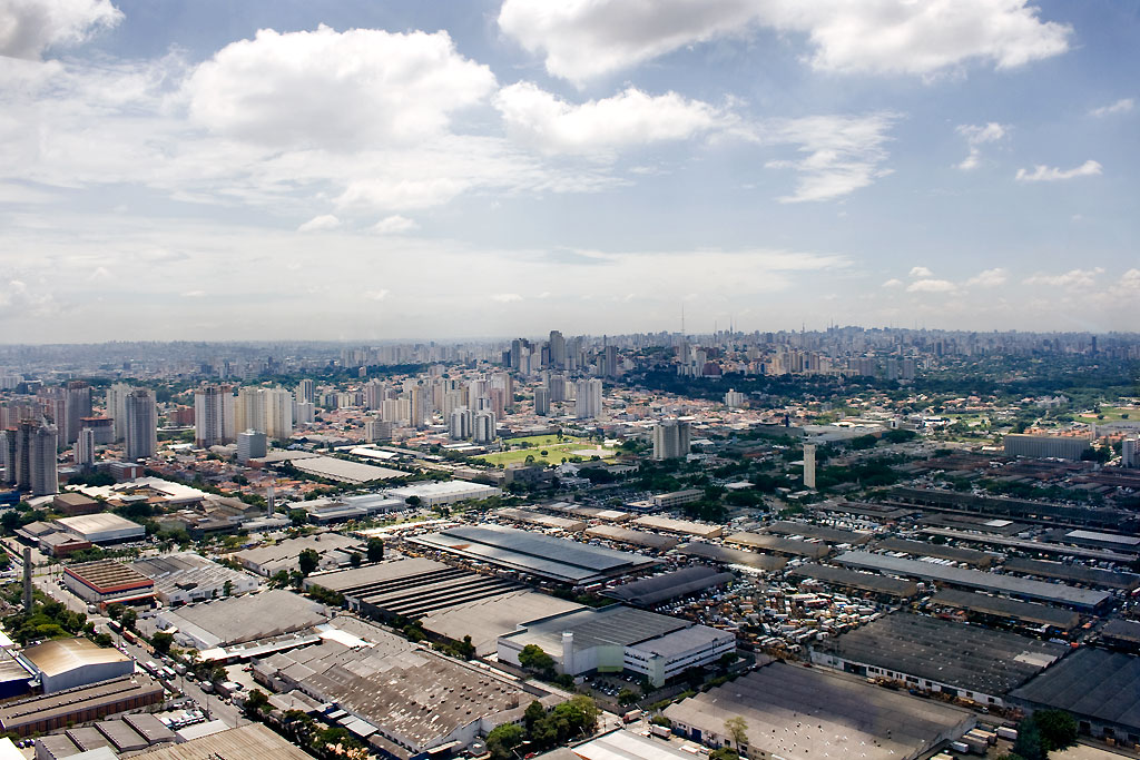 View of Alta de Lapa in Sao Paulo, Brazil